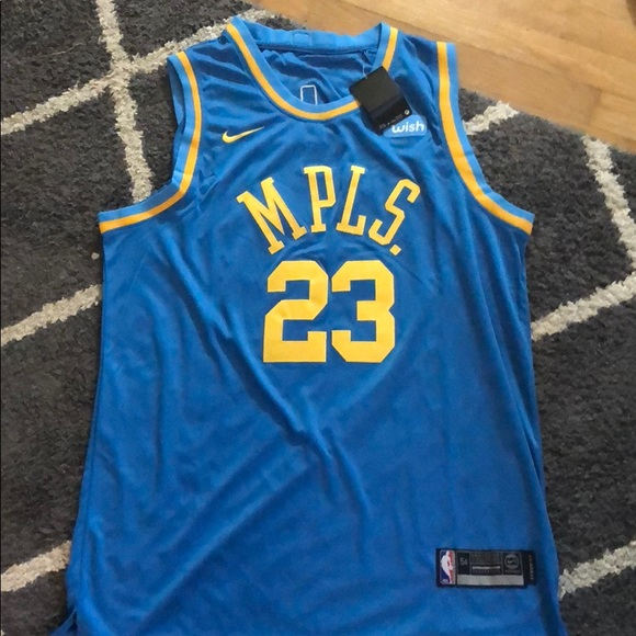 364b57fa5 LeBron James MPLS Lakers Throwback Jersey